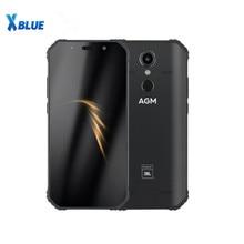 """Agm a9 jbl co marcação, 5.99 """"4g + 32g 64gb android 8.1 telefone robusto 5400 smartphone à prova dágua ip68, alto falantes quad box nfc"""