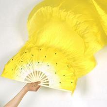 Ручная работа Красочные Танец живота Танцы шелковые бамбуковые длинные веера вуали