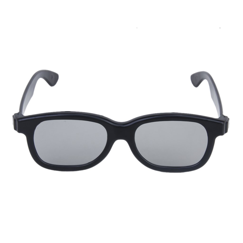 EDT-5 Pairs of Adults Passive Circular Polarized Lens 3D Glasses - Black