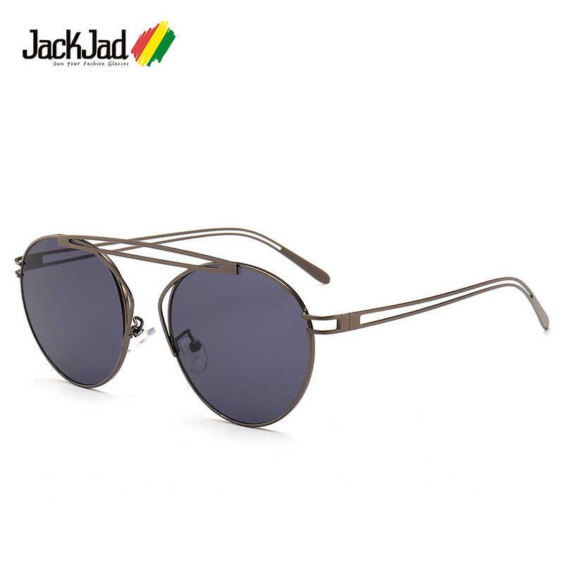 45c5957cc277 JackJad Fashion Cool Round Aviation Style Tint Ocean Lense Sunglasses  Twisted Metal Frame Design Sun Glasses