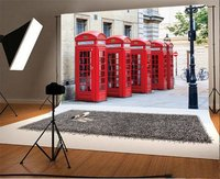 Photography Backdrop The Iconic Red Telephone Booths on Broad Court Covent Garden London Photo Background Party
