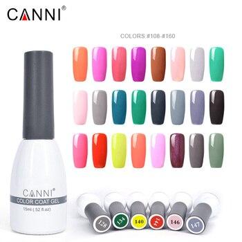 Couleur 128-193 CANNI manucure pas cher longue durée couleur gel vernis paillettes tremper UV/LED vernis à ongles vernis 15 ml