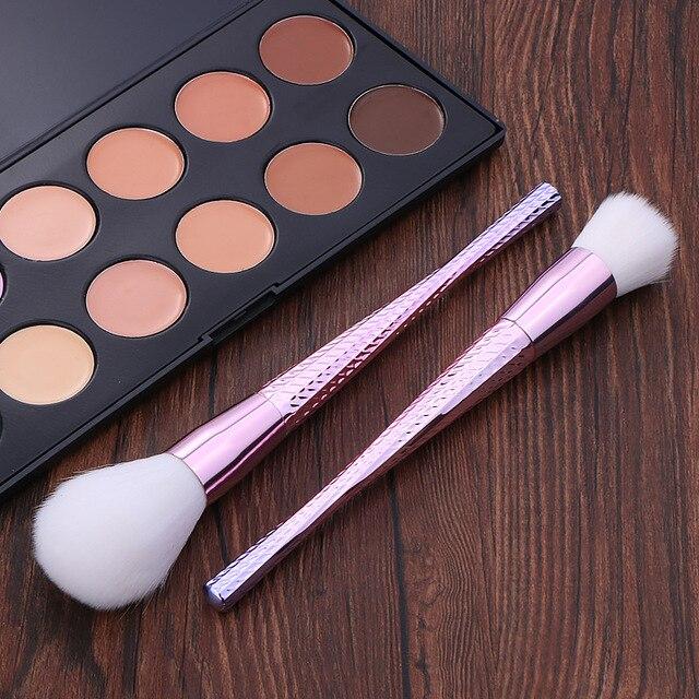 Professional 7pcs Unicorn Thread Makeup Brush set Rainbow Make Up Brushes Blending Powder foundation eyebrow contour Brush T 5