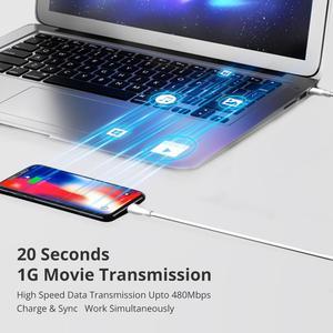 Image 5 - Кабель iSky MFi с разъемами типа C и Lightning для iPhone, сертифицированный кабель 11X8 7 6 5 XR XsMax Pro PD для быстрой зарядки, C94 MFi, синхронизация данных для Macbook
