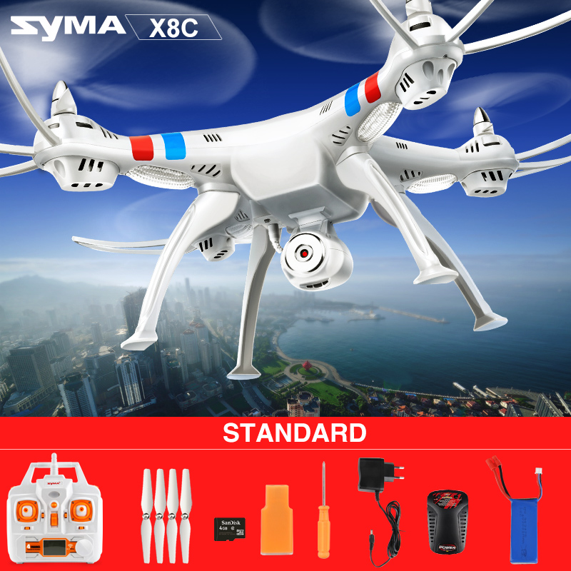Original Syma X8C 2.4G 4CH 6 Axis with 2MP Wide Angle HD Camera RC Quadcopter RTF RC Helicopter Drone
