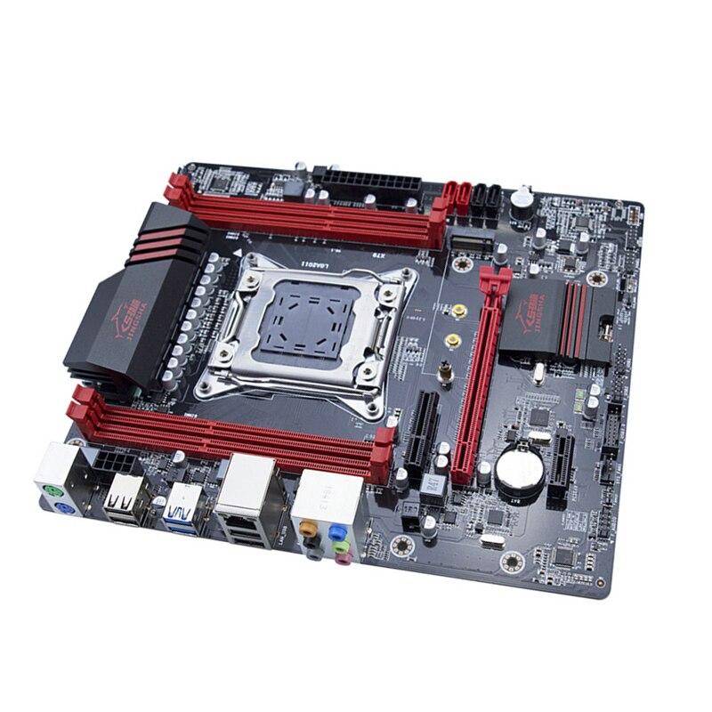 Jinsha X79 motherboard LGA2011 USB3.0 SATA3 PCI-E NVME M.2 SSD Suporte registar e ecc de memória e processador Xeon E5