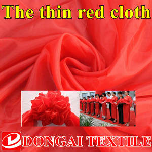 DONGAITEX Polyester thin Red cloth Taffeta Fabrics Textile