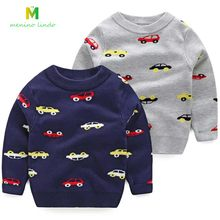 Baby sweaters 2-8T kids knitted clothes children cotton cartoon car pullovers boys spring autumn warm jacket boys clohtes tops(China)