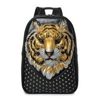 Fashion Tiger Backpack for Outdoors Large Capacity Laptop Backpack Luxury Backpack