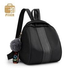 купить Nylon Canvas Shoulder Bags Vintage Women Backpack Casual College School Backpacks for Teenage Girls Female Travel Bag Daypack дешево