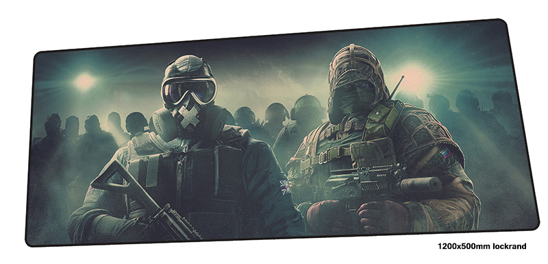 лучшая цена Rainbow Six Siege mouse pad gamer Mass pattern 120x50cm notbook mouse mat gaming mousepad Popular pad mouse PC desk padmouse