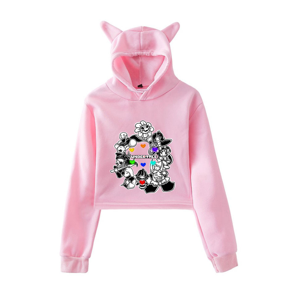 Frdun New UNDERTALE Game Printed Cat Ear Hoodies Sweatshirt Women Sexy Autumn Winter Casual Fashion Comfortable Hoodie