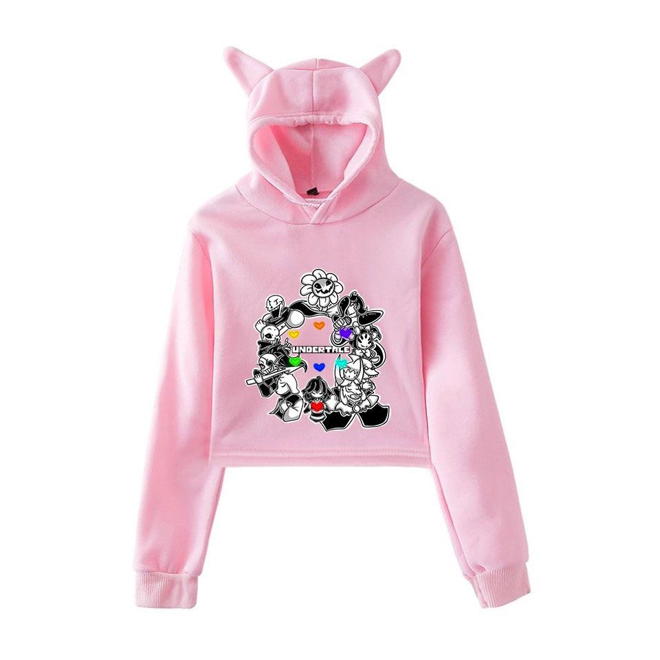 Frdun New UNDERTALE Game Printed Cat Ear Hoodies Sweatshirt Women Sexy Autumn Winter Casual Fashion Comfortable Hoodie