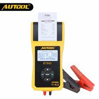 AUTOOL BT660 12V Car Battery Tester Automotive Battery Analyzer Auto Vehicle Repair Test Detect Diag Tool with Thermal Printer