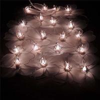 Thailand Morning Glory Fabric String Lights Wedding Decoration Luminaria Luces Navidad Guirlande Garland Christmas Fairy Lights