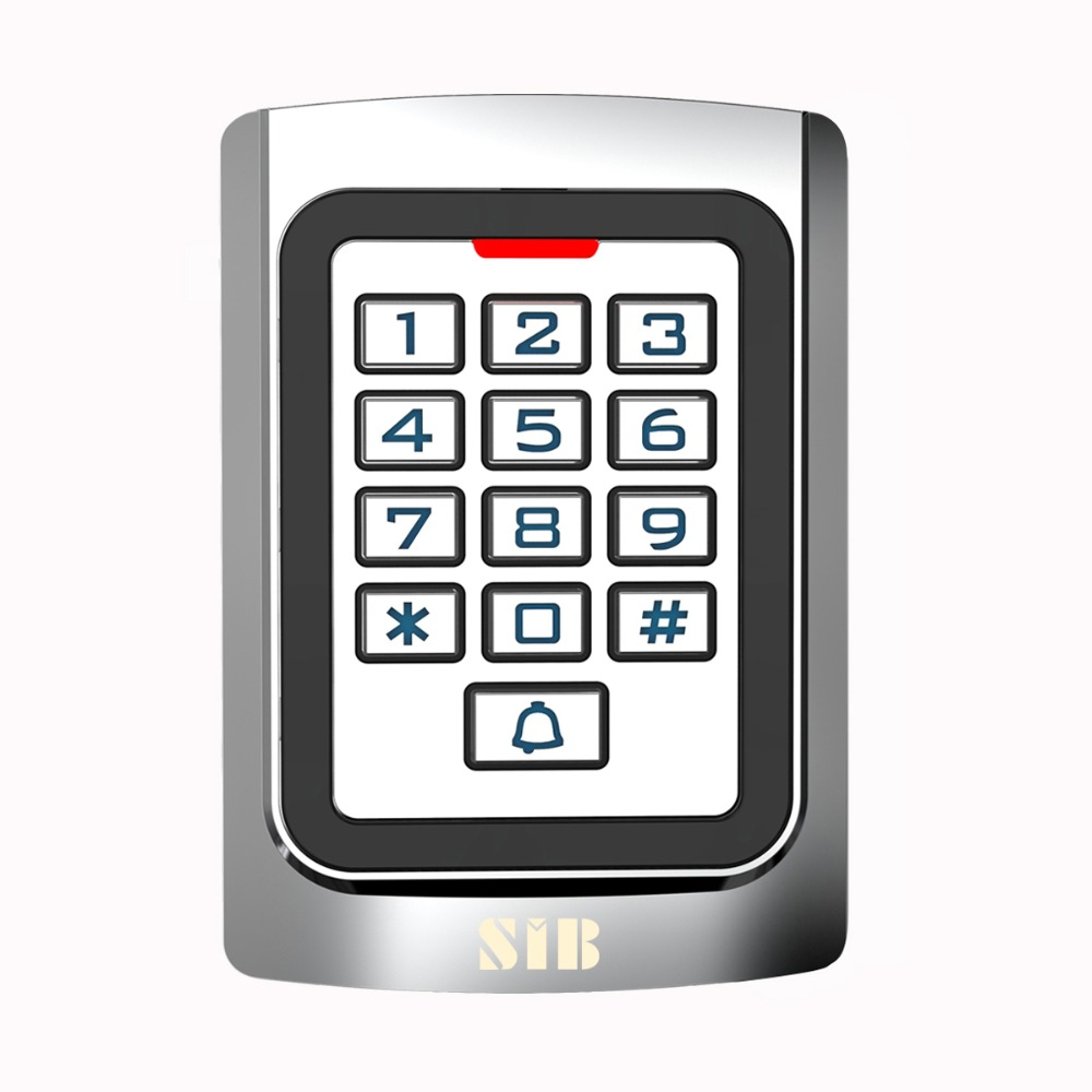 SIB Metal case Silicon Keypad Security Entry Door Reader RFID 125Khz EM Card Standalone Access controller F1331D rfid proximity 125khz em card reader led keypad standalone 2000 users door access control waterproof metal case
