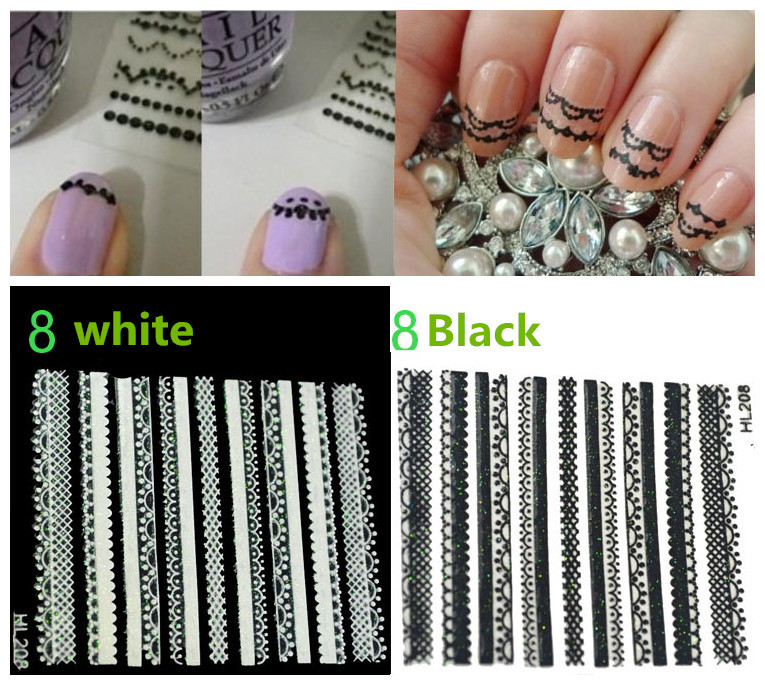 3d Manicure Nail Art Decal Sticker Water Decal Nail Tattoo Stickers