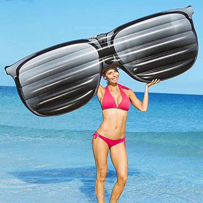 190 cm géant gonflable lunettes de soleil forme flottant rangée gonflable piscine flotteur salon Air matelas eau Fun jouets plage lit