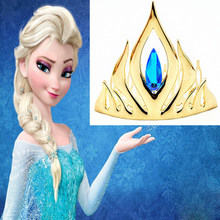 Girls Elsa Cosplay Toy Princess Hair Accessories Crown Crystal Diamond Tiara Hoop Headband For Kids Christmas Toy(China)