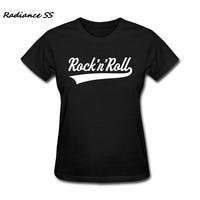 2017 New Luxury Women T Shirt Short Sleeve Stretch Rock N Roll Tops Punk Music Women