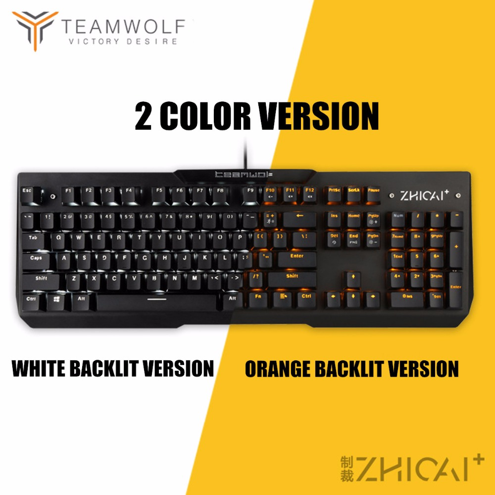 Waterproof Mechanical Keyboard 104 Anti ghosting Optical Switch LED Backlit wired Gaming Keyboard Russian stickers for pro gamer in Keyboards from Computer Office