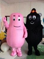 Best цена розовый Barbapapa костюм талисмана Прекрасный Борода папа взрослых Маскоты te Герой мультфильма костюм EMS бесплатная доставка
