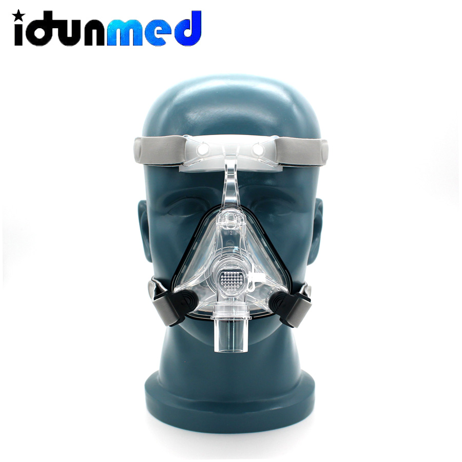 BMC CPAP Mask Nasal Mask Size S M L With Adjustable Headgear Strap Ventilator Respirator For
