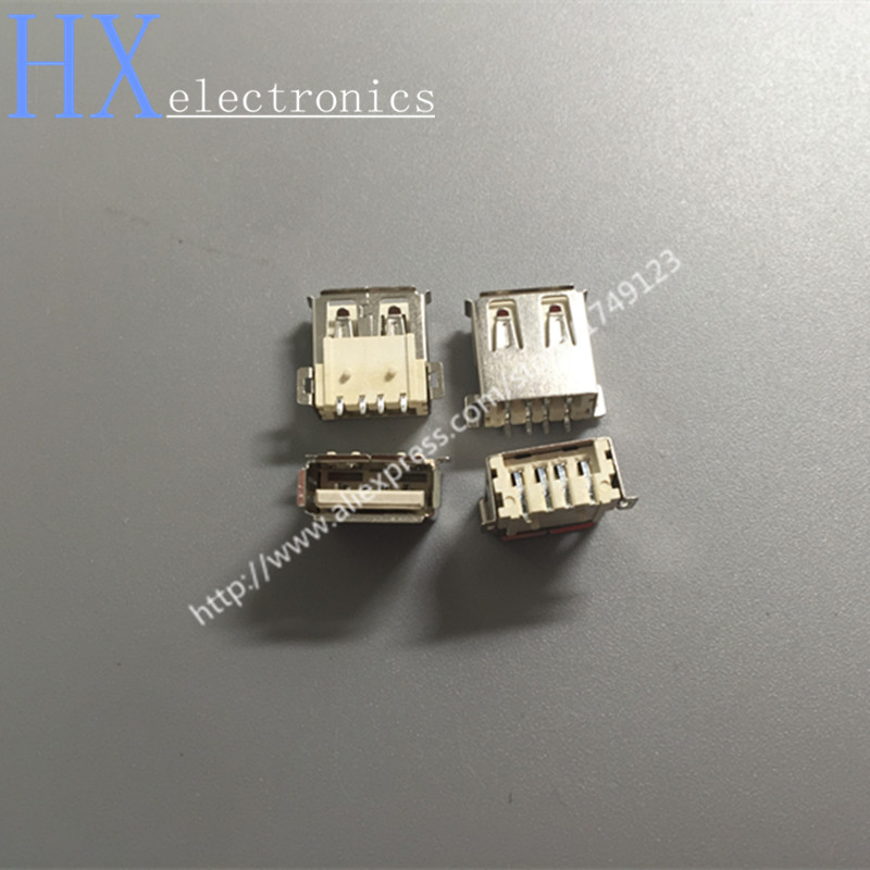 Free shipping 500PCS LOT USB socket AF mother 4P full SMD USB female type A USB