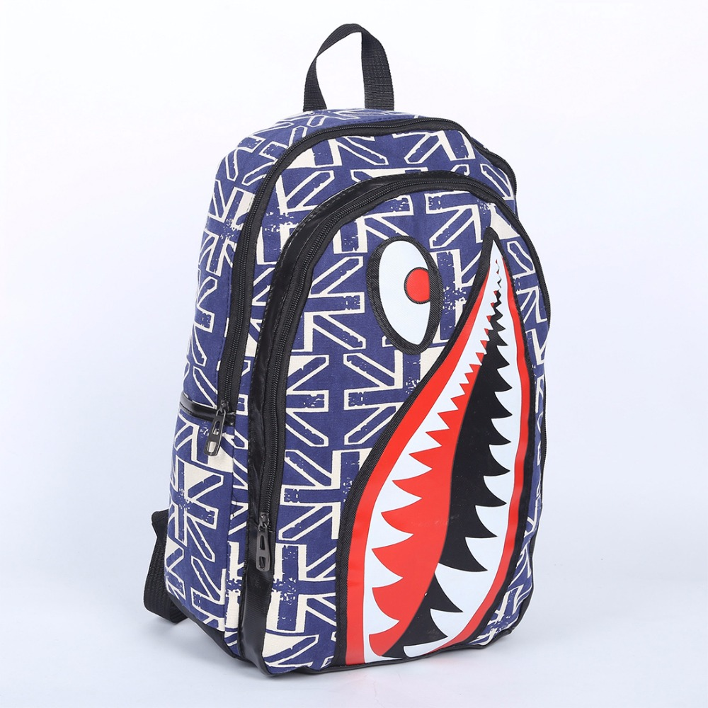 Bags for school on sale - 2017 Hot Sale Students Fashion Shark Backpack Creative Backpacks Boy S Travel Bags School Bag Free Shipping