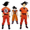 Free Shipping Japanese Anime Dragon Ball Goku Adult Costumes Goku Cosplay Costume Outfits Halloween Costumes for Men/Women