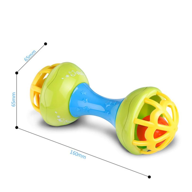Baby Musical Hand Shaking Rattle Toy Todder Educational Teether Dumbbell Toy 100% brand new and high quality Education Toy