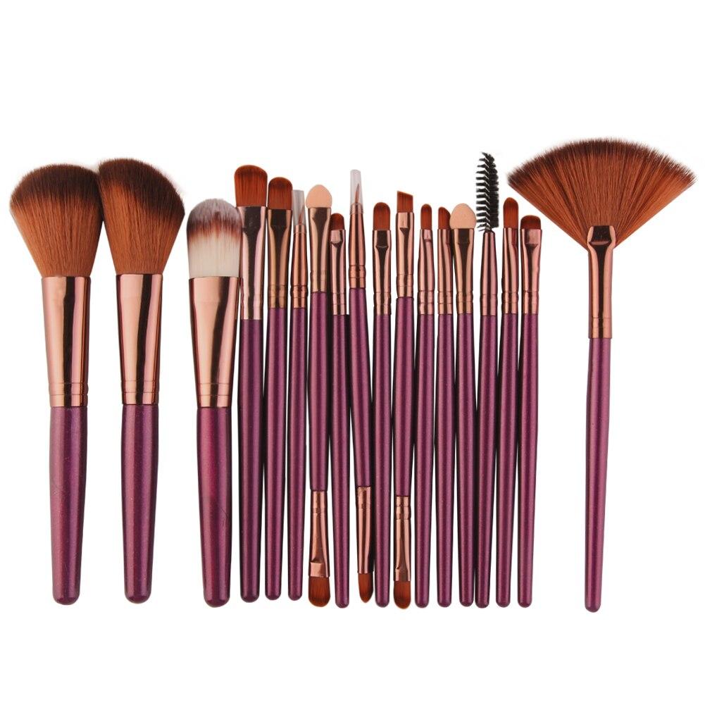 MAANGE 18/15pcs Makeup Brushes Set Profesional Foundation Blusher Eyeshadow Lips Make Up Brush Cosmetic Set Kit Pincel Maquiagem(China)