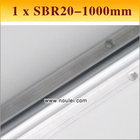1 шт SBR20 1000 мм Линейное движение Руководство поддерживается железнодорожных SBR линейный вал 20 для ЧПУ можно вырезать любой длины