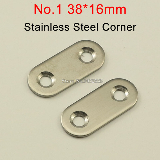 100PCS 38*16mm stainless steel Flat Brackets Straight Line Metal ...