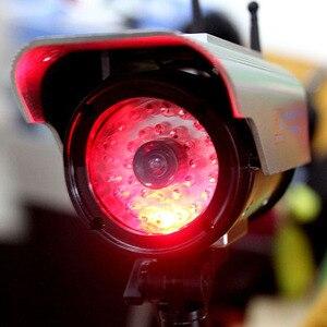 Image 2 - Simülasyon güneş enerjisi sahte kamera kamera yanıp sönen LED ışık kapalı açık ev güvenlik Video gözetim CCTV aksesuarları