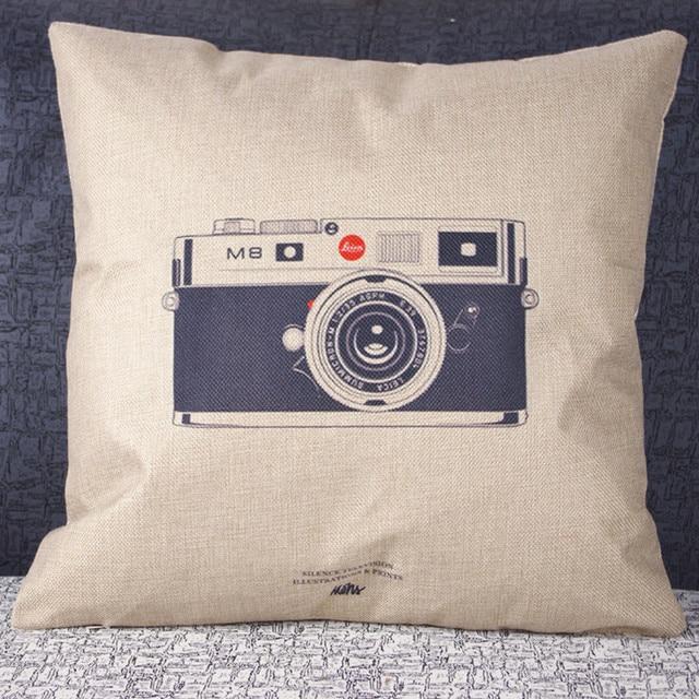 1 st Vintage Rits verborgen kussensloop cover Retro Camera Print ...