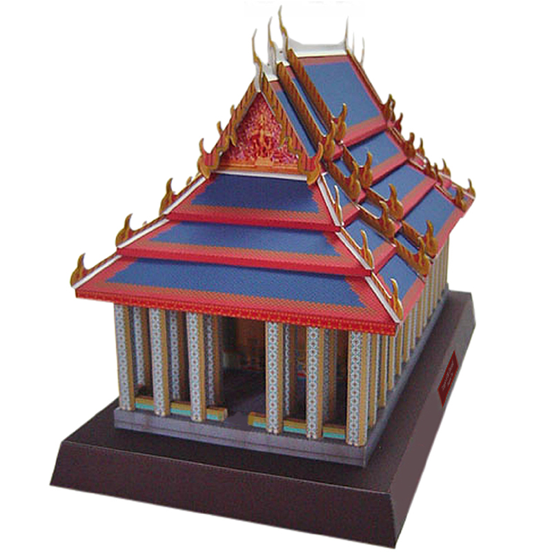 Temple Of The Emerald, Thai Craft Paper Model 3D Architectural Building DIY Education Toys Handmade Adult Puzzle Game