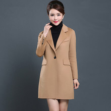Spring and Autumn Hand double sided wool Self cultivation lapel Woolen font b jacket b font