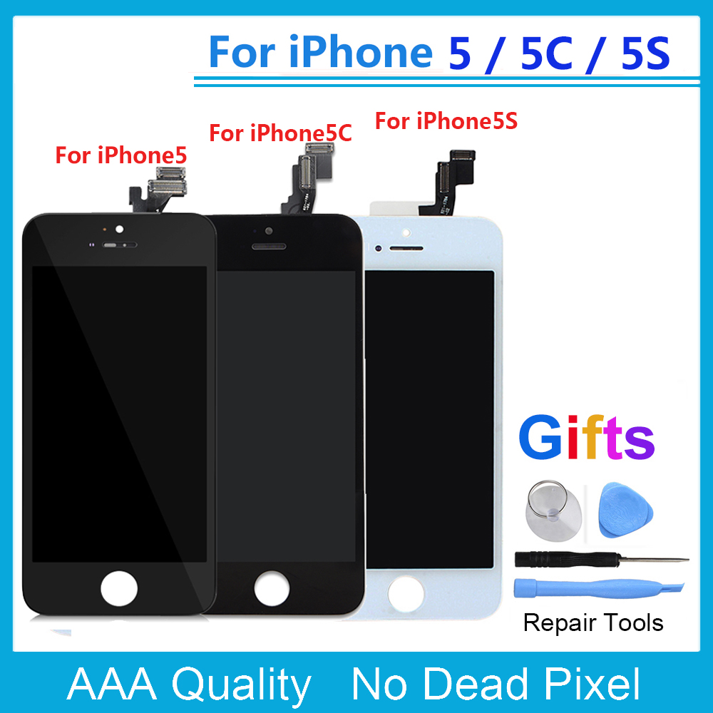 AAA Quality LCD Screen for iPhone 5S 5C 5 LCD Display Touch Screen Digitizer Assembly Replacement for iPhone 6 6S Plus LCD+Gifts