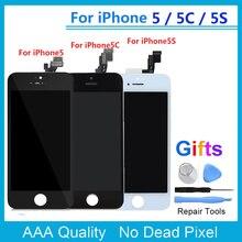 Ограниченное предложение Качество AAA ЖК-дисплей Экран для iphone 5S 5C 5 ЖК-дисплей Дисплей Сенсорный экран планшета Ассамблеи Замена для iPhone 6, 6 S плюс ЖК-дисплей + подарки