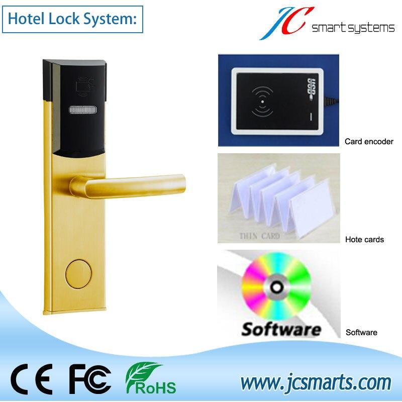 Model JC118E-F Card Hotel Lock Digital Intelligent Electronic Hotel Keyless Card Door Lock System