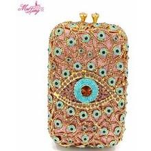 Neue Marke Luxus Kristall Kupplungen Ananas Handtasche Platz Augen Abendessen Tasche Mode Diamanten Frauen Wallet Party Tasche Gold