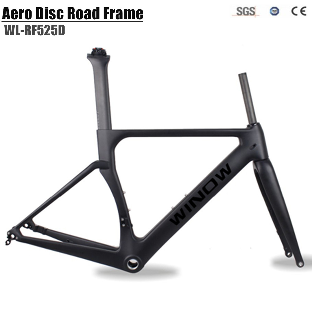 2018 Disc bike carbon fiber road frame racing bike carbon road frame size 49/52/54/56/58cm carbon road disc frameset carbon road frame 2017 high quality ud carbon road bike bicycle frame 49 52 54 56 58cm carbon frame red yellow bicycle parts