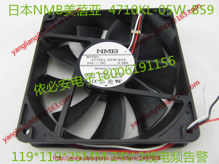 Free Shipping For  NMB 4710KL-05W-B59, E00 DC 24V 0.13A, 60x60x25mm 2-wire 60mm  Server Cooling Square fan запонка arcadio rossi запонки со смолой 2 b 1026 20 e