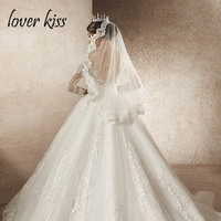Lover Kiss Shiny Beaded Bridal Veil Short With Comb Lace Appliqued Edge Tulle Bridal Veil One Layer Wedding Accessory For brides