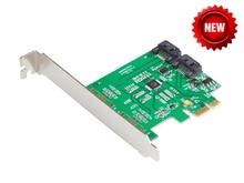 Marvell 88SE9120 2 Ports SATA 6G Pci-express-controller-karte PCI-e zu SATA III 3,0 konverter PCI low profile halterung SATA3.0