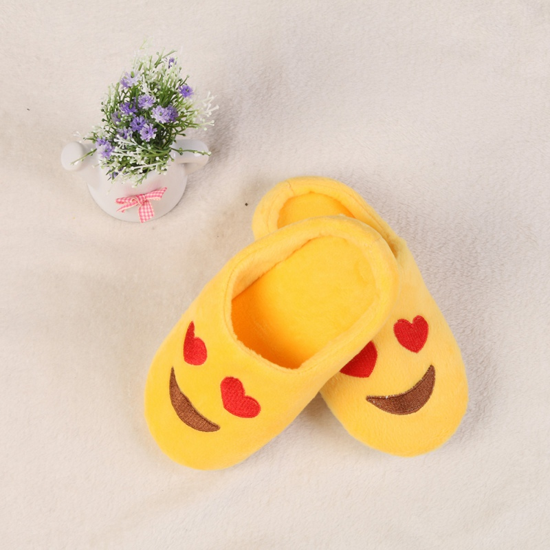 Baby Girl Boys Winter Warm Slippers Expression Cotton Slippers Children Smiling Face Section Flip Flop Home Shoes Kids Guest