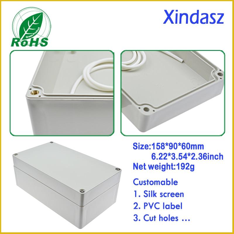 (XD-F2 5pcs/Lot)158*90*60mm plastic boxes electronics enclosure plastic box for electronic project waterproof plastic box lot 2 90 lot 3 60 g700 sop28