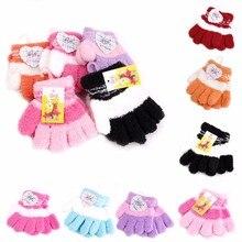 Модные новые детские перчатки для девочек и мальчиков, флисовые мягкие перчатки, теплые зимние аксессуары