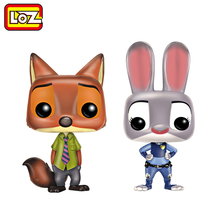 Ormino LOZ Toys Zootopia Nick Judy Animal Vinyl Anime Figures Collection Models Puppet Action Figure Children Collector Edition